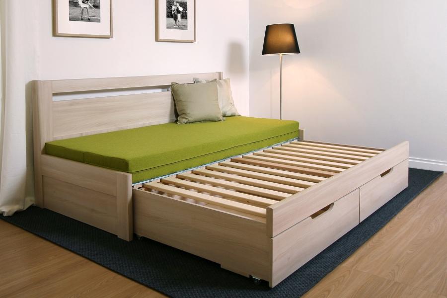 471f8ad577fa8 Tandem Klasik - rozkladacia postel, bez područiek, rovné rohy ...