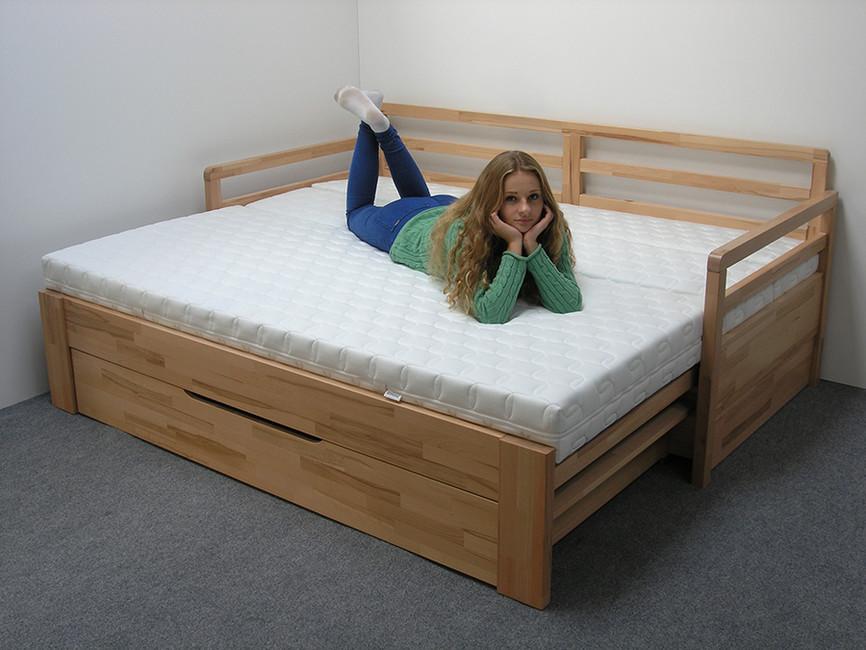 69be32c1bd26a TANDEM KLASIK rozkladacia postel s 2 područkami oblé rohy - nábytok, postele,sedačky  | unimier.sk