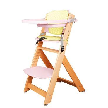 Detská kŕmiaca stolička ružová