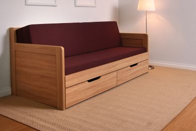 TANDEM KLASIK rozkladacia postel s 2 područkami oblé rohy