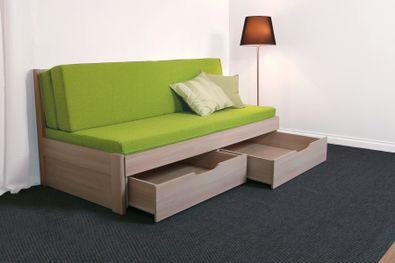 Tandem Klasik - rozkladacia postel, bez područiek, rovné rohy